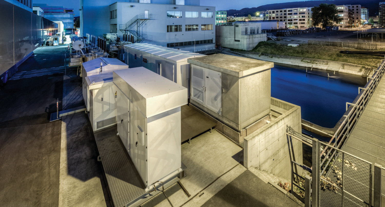 When coupled with suitable energy storage systems, solar and wind power can be transformed into a source of electricity that can be easily controlled and planned. At the image: 1 MW capacity battery solution of the electric utility of the Canton of Zurich (EKZ). © ABB