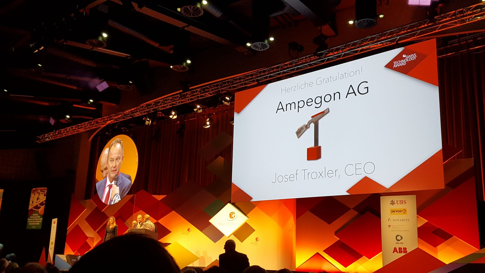 "Congratulations to Ampegon AG, the winner of Swiss Technology Award in the category ""Innovation Leaders""."