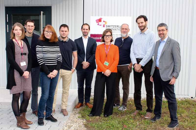 A housewarming with colleagues from Swiss Light Source (SLS) and PARK INNOVAARE.