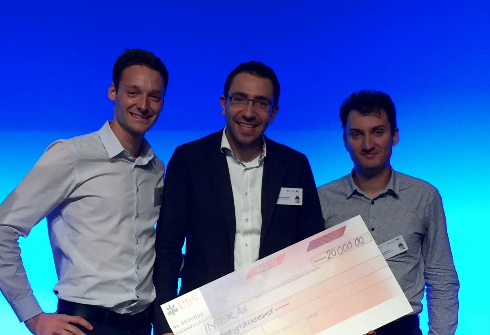 InterAx Biotech team: Luca Zenone, Dr. Martin Ostermaier and Dr. Aurélien Rizk