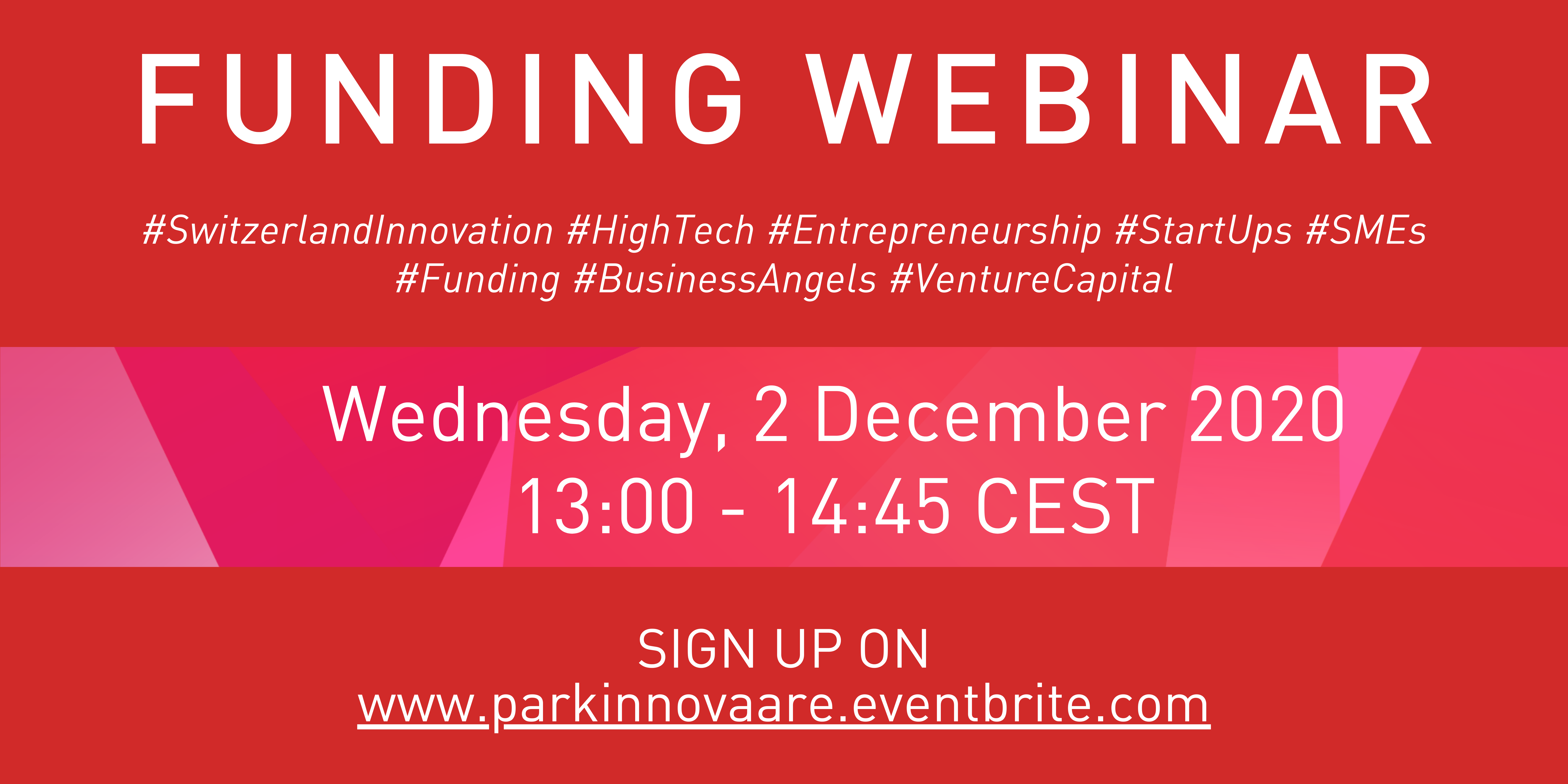 Funding Webinar : Wednesday 2 December 2020